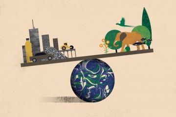 Scara completă a clădirilor, infrastructurii și a altor obiecte antropice subliniază impactul nostru asupra planetei