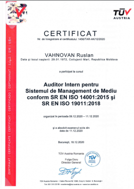 certificat TUV AUSTRIA